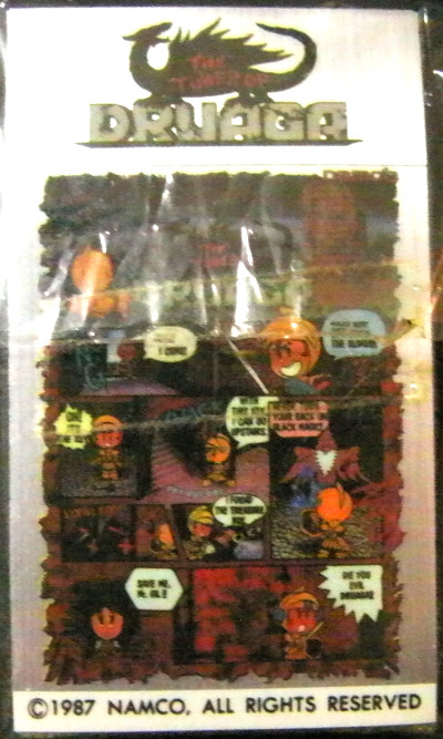 namco,the tower of druaga,sticker,seal,ナムコ、ザ・タワー・オブ・ドルアーガ、ドルアーガの塔、シール、ステッカー