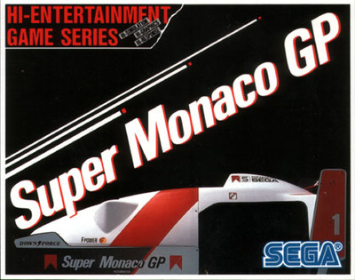 GP,SEGA,Super Monaco GP,Stickerretro game